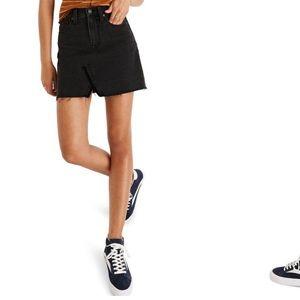 NWT Madewell A-Line Rigid Denim Miniskirt Black